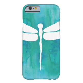 Libélulas blancas del azul de la aguamarina de la funda para iPhone 6 barely there