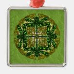 Libélulas célticas del arte - verde adorno de navidad
