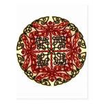 Libélulas célticas rojas postales
