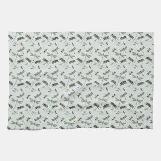 Libélulas del vintage toalla de cocina