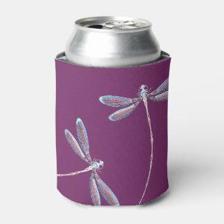 Libélulas en vuelo enfriador de latas