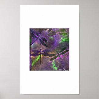 libélulas místicas póster