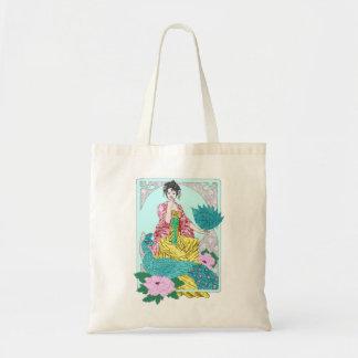 Libélulas, pavo real y kimono bolsas