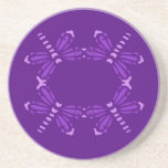 Libélulas púrpuras en púrpura, práctico de costa d posavasos personalizados