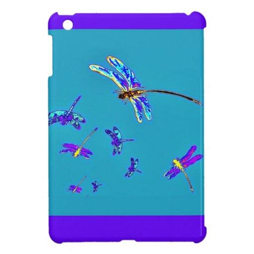 Libélulas y regalos púrpuras de los azules cielos
