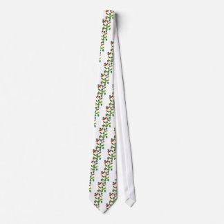 Libélulas y tréboles corbata