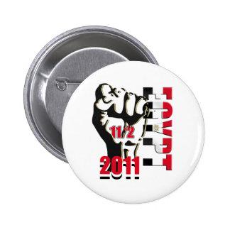 Liberación 11ma de la revolución de Egipto de febr Pin Redondo 5 Cm