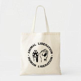 Liberación animal - liberación humana bolsa tela barata