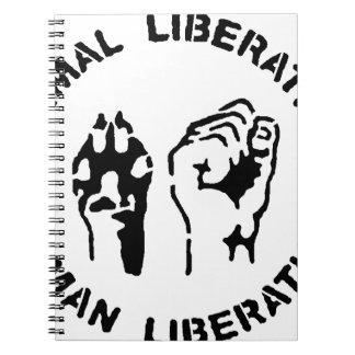 Liberación animal - liberación humana libro de apuntes con espiral