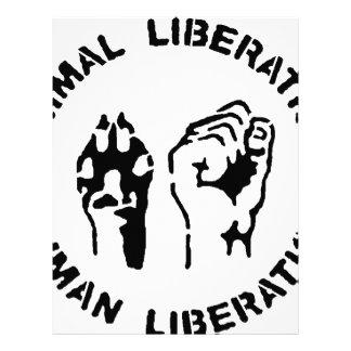 Liberación animal - liberación humana membrete