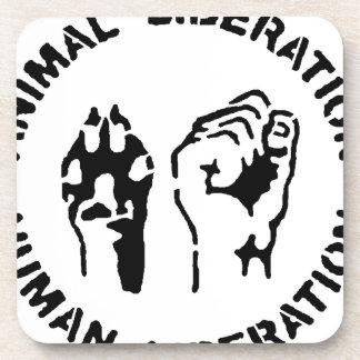 Liberación animal - liberación humana posavasos de bebida