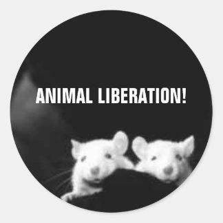 ¡Liberación animal! Pegatina Redonda
