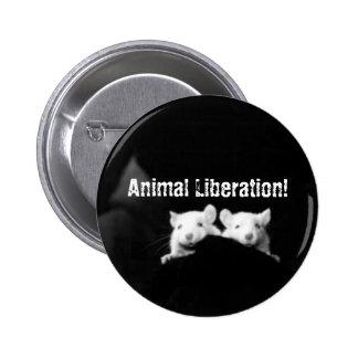 ¡Liberación animal! Pin Redondo De 2 Pulgadas