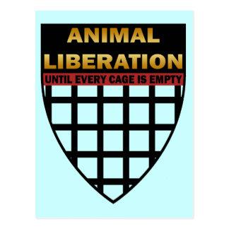 LIBERACIÓN ANIMAL POSTALES