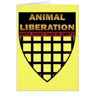 LIBERACIÓN ANIMAL TARJETA DE FELICITACIÓN
