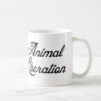 Liberación animal taza básica blanca