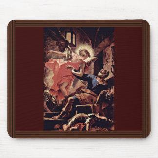 Liberación de San Pedro por un ángel de Ricci Alfombrilla De Ratón