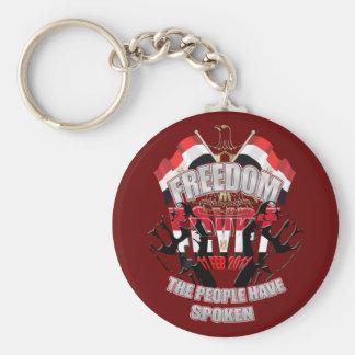 Liberación del día de la libertad Egipto del 11 de Llavero Redondo Tipo Pin