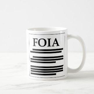 Liberado de acto de la información taza de café