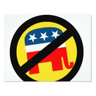 Liberal / Anti-Republican Personalized Invitations