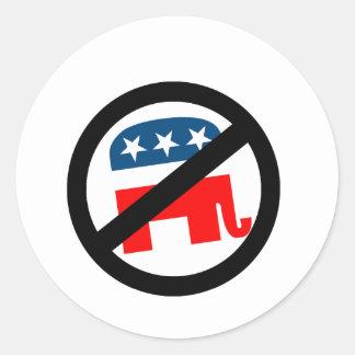 Liberal / Anti-Republican Classic Round Sticker