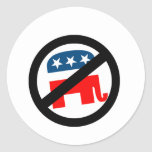 Liberal/Anti-Republicano Etiqueta Redonda