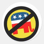 Liberal/Anti-Republicano Etiquetas Redondas