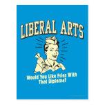 Liberal Arts: Like Fries With Diploma Postcard
