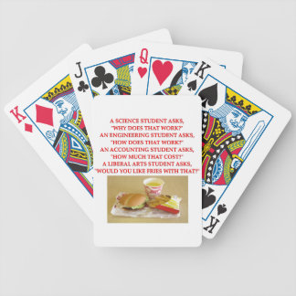 liberal arts playing cards