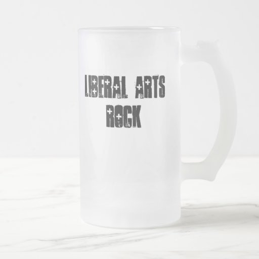 Liberal Arts Rock 16 Oz Frosted Glass Beer Mug