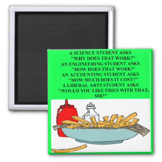 liberal arts science fast food joke magnet