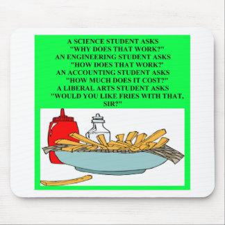 liberal arts science fast food joke mouse mat