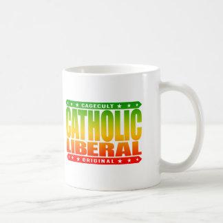 LIBERAL CATÓLICO - guerrero de la justicia social Taza Básica Blanca