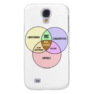 Liberal conservador libertario del diagrama de Ven Funda Para Galaxy S4