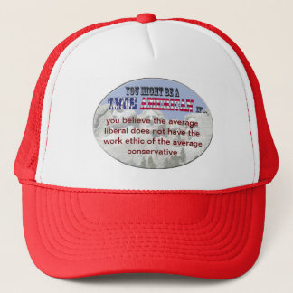 liberal conservative trucker hat