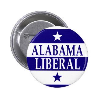 Liberal de Alabama Pin Redondo De 2 Pulgadas