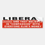 Liberal Definition Bumper Sticker Car Bumper Sticker