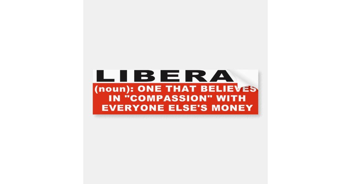 Liberal Definition Bumper Sticker Zazzle