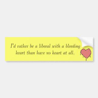 Liberal del corazón sangrante etiqueta de parachoque
