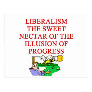 LIBERAL delusion Postcard
