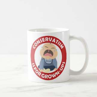 liberal democrat crying baby conservative grownup classic white coffee mug
