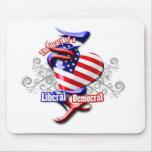 Liberal Democrat Heart Mousepads