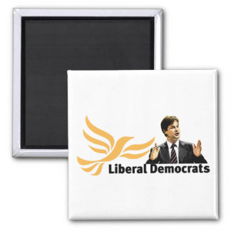 Liberal Democrats 2 Inch Square Magnet