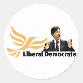 Liberal Democrats Classic Round Sticker