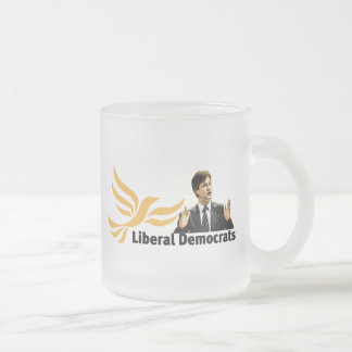 Liberal Democrats Frosted Glass Coffee Mug
