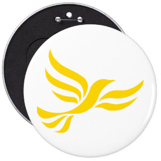 Liberal Democrats Logo 6 Inch Round Button
