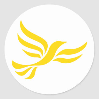 Liberal Democrats Logo Classic Round Sticker