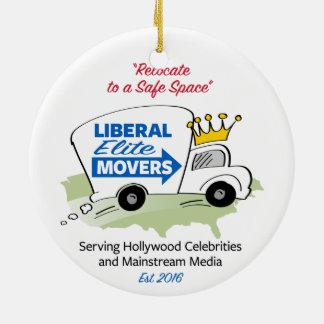 Liberal Elite Movers Ceramic Ornament