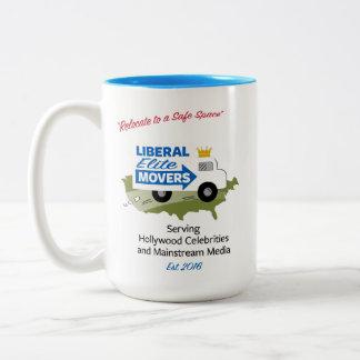 Liberal Elite Movers Two-Tone Coffee Mug