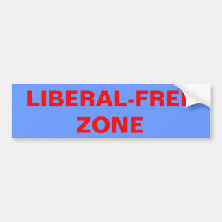LIBERAL-FREE ZONE BUMPER STICKER